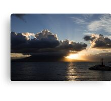 Vesuvius Cloud Eruption Over the Bay of Naples Canvas Print