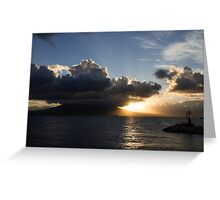 Vesuvius Cloud Eruption Over the Bay of Naples Greeting Card