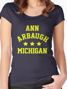 Ann Arbaugh, Michigan Women's Fitted Scoop T-Shirt
