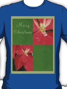 Mottled Red Poinsettia 1 Ephemeral Merry Christmas Q5F1 T-Shirt
