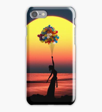 Balloon Girl Sunset iPhone Case/Skin