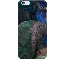 Stain glass male peacock  iPhone Case/Skin