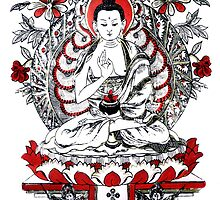 Buddha Meditating in a Lotus Flower by Brevis
