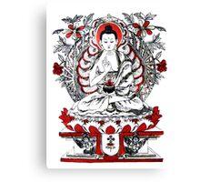 Buddha Meditating in a Lotus Flower Canvas Print