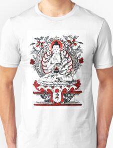 Buddha Meditating in a Lotus Flower Unisex T-Shirt