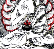 Buddha Meditating in a Lotus Flower Sticker