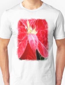 Mottled Red Poinsettia 2 Angelic Unisex T-Shirt