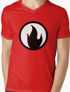 TF2 Pyro Shirt Black Filled Mens V-Neck T-Shirt