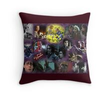 Tim Burton Collage Throw Pillow