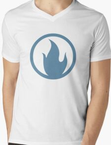 TF2 Pyro Shirt Team Spirit Blue Mens V-Neck T-Shirt
