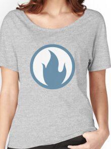 TF2 Pyro Shirt Team Spirit Blue Filled Women's Relaxed Fit T-Shirt