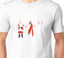 Santa/Jesus/Easter Bunny Unisex T-Shirt