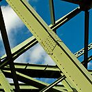 Girders and sky by Thad Zajdowicz