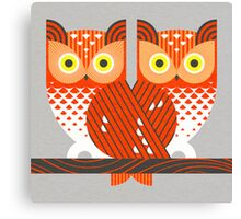Screech Owls Canvas Print