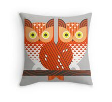 Screech Owls Throw Pillow