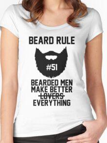 Beard Rule #51 - Bearded Men Make Better Everything Women's Fitted Scoop T-Shirt