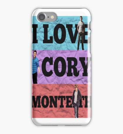 I Love Cory Monteith iPhone Case/Skin