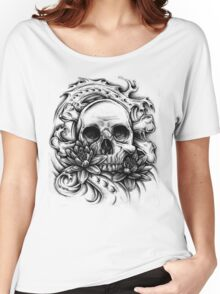 Skull Bio Wave Women's Relaxed Fit T-Shirt