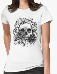 Skull Bio Wave Womens Fitted T-Shirt