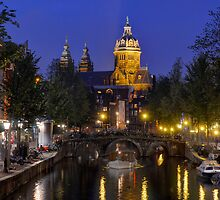 Dusk in Amsterdam by Peter Hammer