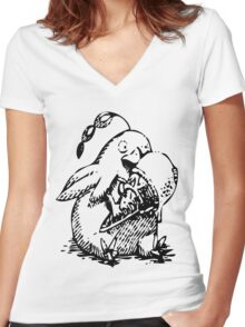 Ni No Kuni: Penguin Familiar Women's Fitted V-Neck T-Shirt