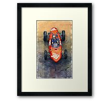 Ferrari Dino 156 1962 Monaco GP Framed Print