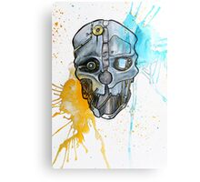 Corvo's Mask - Dishonored - Ink Splatter Metal Print