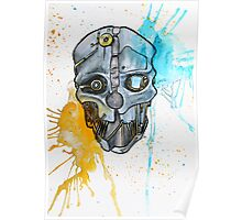 Corvo's Mask - Dishonored - Ink Splatter Poster