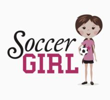 Soccer girl stickers, pink by MheaDesign