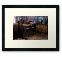 Abandoned Piano Framed Print