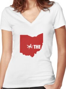 THE Ohio State University Women's Fitted V-Neck T-Shirt