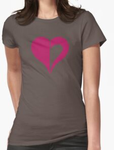Aspect of heart Womens Fitted T-Shirt