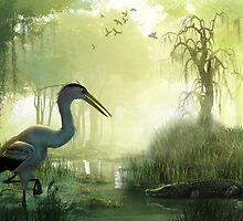 Blue Heron Morning by Timothy Higgins