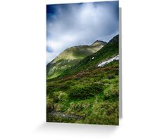 Alpine meadow landscape color fine art photography - La su sulle montagne Greeting Card