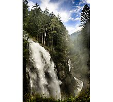 Landscape nature waterfall in the mountains - Il Grande Salto Photographic Print