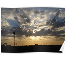 Sunray's through the clouds Poster