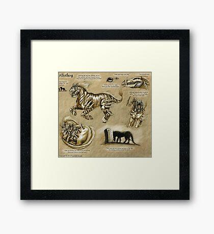 Bestiary: Allothog Framed Print