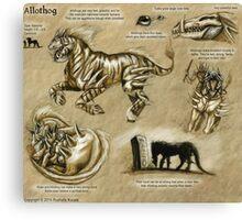 Bestiary: Allothog Canvas Print