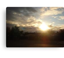 Sun in the sky Canvas Print