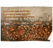 Inspiration - Apiary - Bee's - Sweet success - Ben Franklin Poster