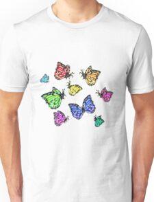 Colorful Butterflies taking Flight (Flutter) Unisex T-Shirt