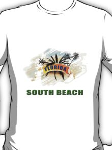South Beach Collectors Tee-shirt and Stickers T-Shirt