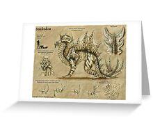 Bestiary: Baakudoa Greeting Card