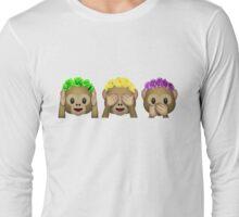 Flower Crown Monkeys Long Sleeve T-Shirt