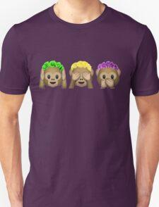 Flower Crown Monkeys Unisex T-Shirt
