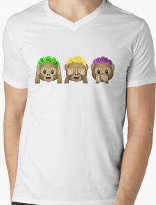 Flower Crown Monkeys Mens V-Neck T-Shirt