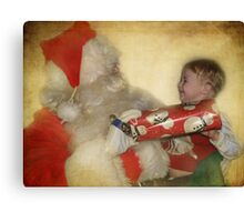 Christmas is for smiles Canvas Print