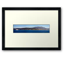 Cruising in - panorama 1 - Hobart, Tasmania Framed Print