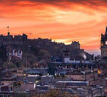 Edinburgh Castle at Sunset by PhilipCormack