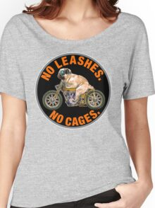 NO LEASHES, NO CAGES Women's Relaxed Fit T-Shirt